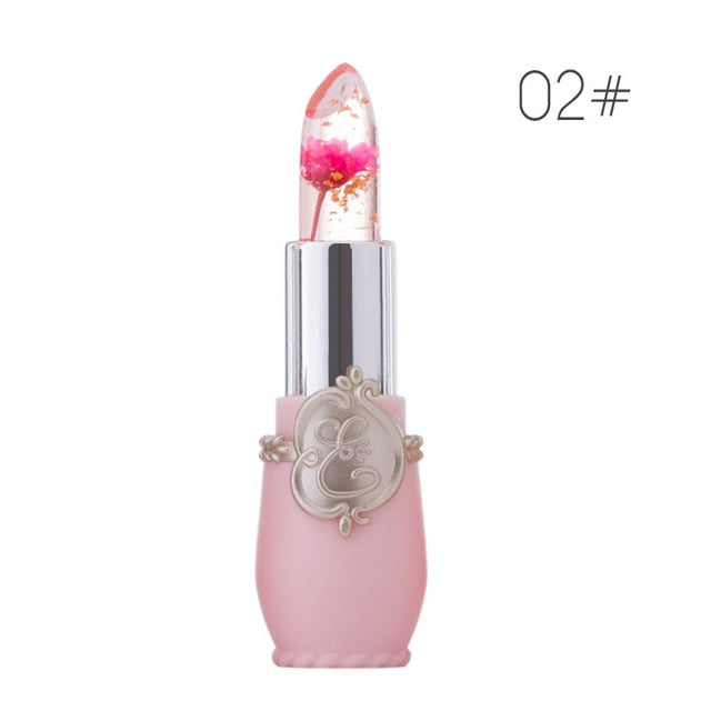 Transparent Natural Red Lip Stick Temperature Color Change Waterproof Moisturizer Flower Jelly Lipsticks Makeup Lip balm TSLM2