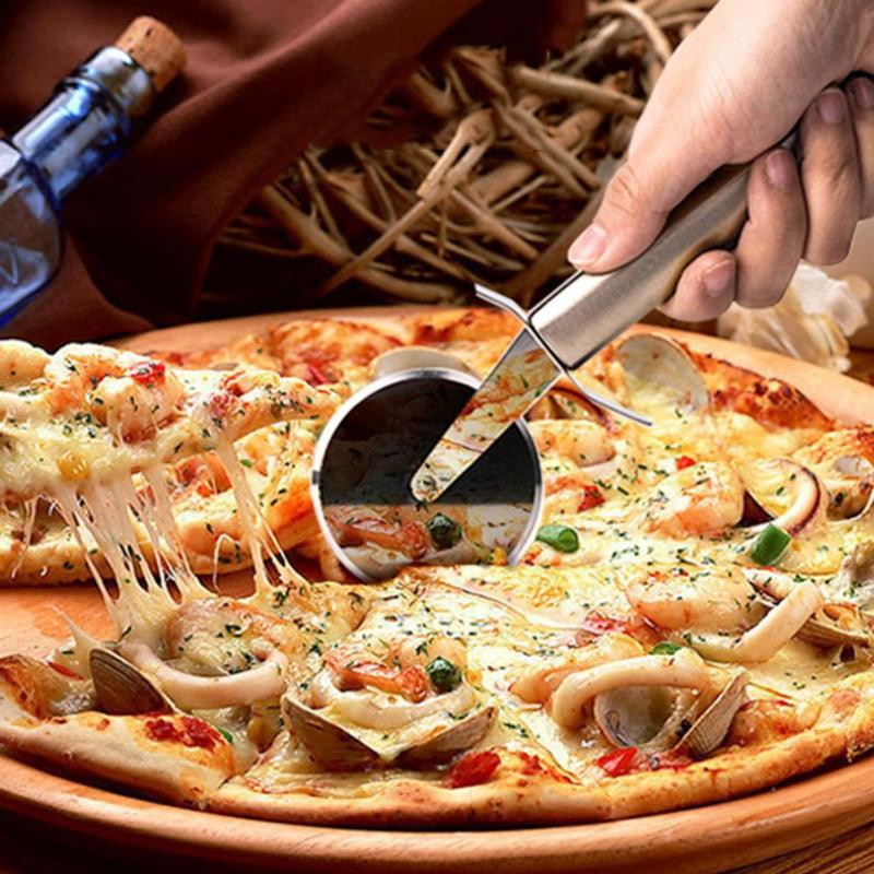 Stainless Steel Pizza Single Wheel Cut Tools Diameter 6.5CM Household Pizza Knife Cake Tools Wheel Use For Waffle Cookies