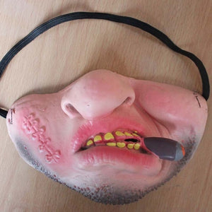 Funny Kids Adult Halloween Party Mask Latex Clown Cosplay Half Face Horrible Scary Masks Masquerade Halloween Decorations Props