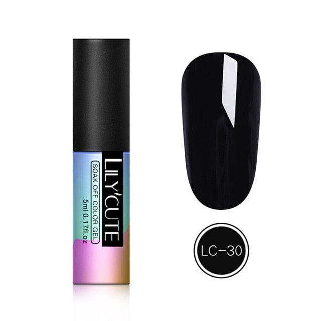 LILYCUTE 9D Chameleon Magnetic Gel Nail Polish Long Lasting Shining Laser 5ml Cat Eye Nail Art Gel Soak Off UV LED Gel Varnish