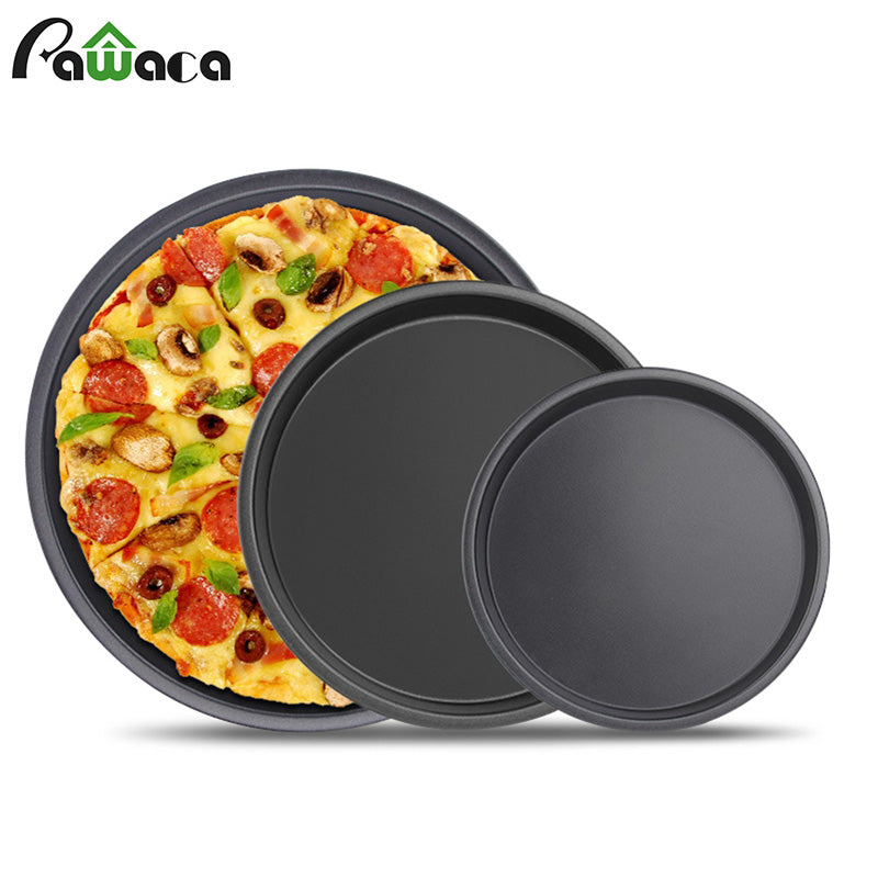 6 7 8 inch Premium Non-Stick Pizza Pan Bakeware Carbon Steel Pizza Plate Round Deep Dish Pizza Pan Tray Mold Mould Baking Tools