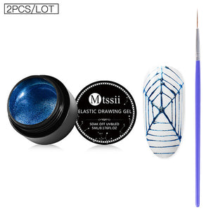 Mtssii 12Colors Nail Art Wire Line Silk Point Creative Pulling Wire Spider Painting Gel Varnish Random Design DIY Manicure Tools