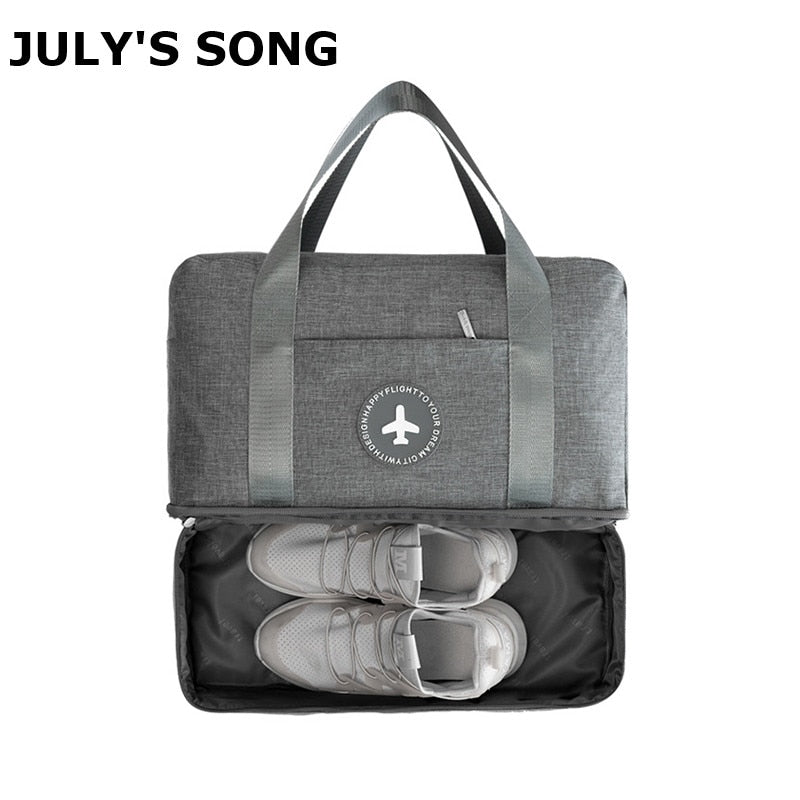 JULY'S SONG Portable Travel Bag Duffle Waterproof Multifunctional Dry Wet Separation Storage Bag Travel Duffle Drop shipping