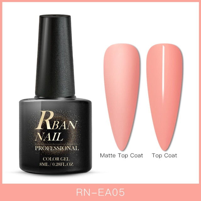 RBAN NAIL 8ML Color UV Gel Nail Polish Matt Top Coat Hybrid Nails Gel Soak Off Long Lasting Nail Art Gel Varnish Lacquer Tools