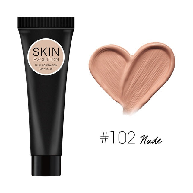Huration Makeup Face Foundation Liquid Foundation Full Coverage Concealer Oil Control Easy To Wear Soft Face Makeup Foundation
