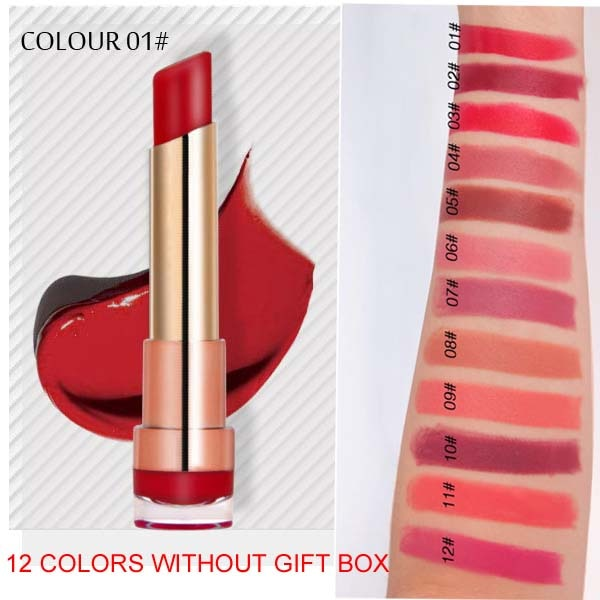 Cellacity matte Lipstick Set 12pcs/lot Waterproof Nutritious Velvet lip stick Red Tint Nude batom women fashion lips makeup set