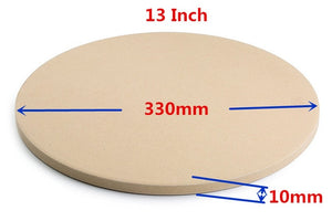 10 & 13 inch Pizza Stone for Cooking Baking Grilling -13 Inch Extra Thick - Pizza Tools for Oven and BBQ Grill Bakeware Kitchen