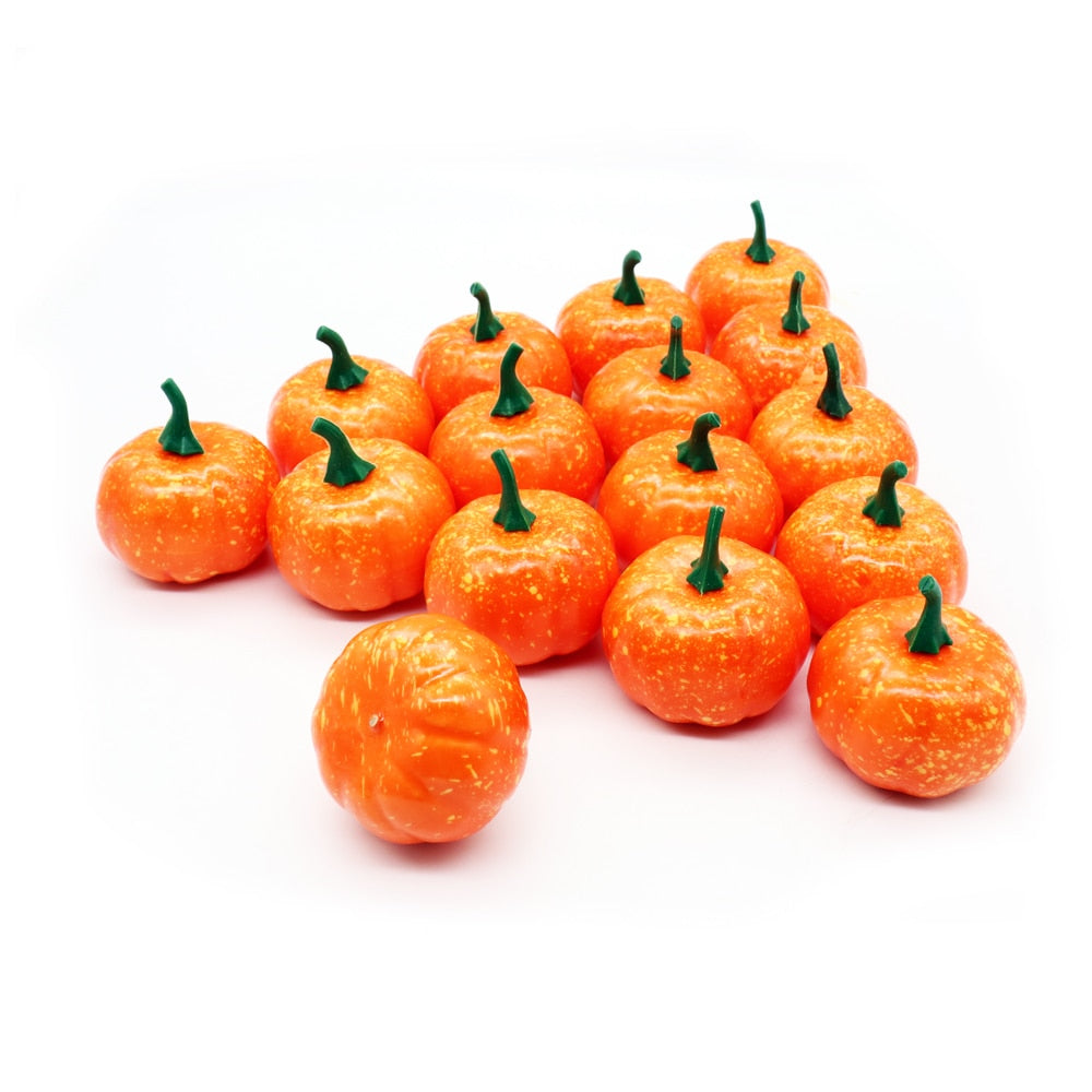 Artificial Pumpkins Foam Pumpkins Kids' Kitchen Toys Squishy Food Pretend Fake Foam Halloween Party Dining Room Decorative