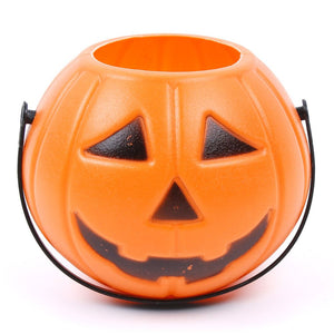 Halloween Party Props Plastic Pumpkin Bucket Trick Cosplay Decor Pouch Halloween Lantern Home Shop Party Lovely Decorating Tools