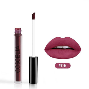 COSCELIA 15 Colors Waterproof Matte Lipstick Red Lip Long Lasting Lipstick Matte For Makeup Red Lip Matte Long Lasting Gift