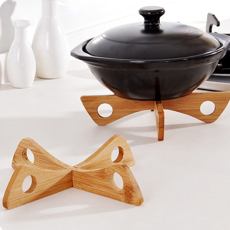 Brand New Bamboo Heat Resistant Pan Mats Holder Removable Kitchen Cooking Bowl Cup Coaster Cooking Tools Set