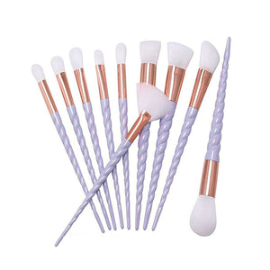 Hot 10pcs Unicorn Makeup Brushes Set Foundation Eyeshadow Base Powder Blush Blending Brushes Makeup Brush Cosmetic Tools