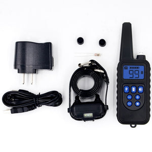Remote Control Waterproof Dog Training Electric Shock Collar Rechargeable Adjustable Levels