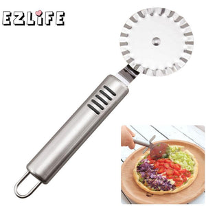 Small Size Pizza & Wheels Stainless Steel Fluted Blade Pizza Roulette GF465