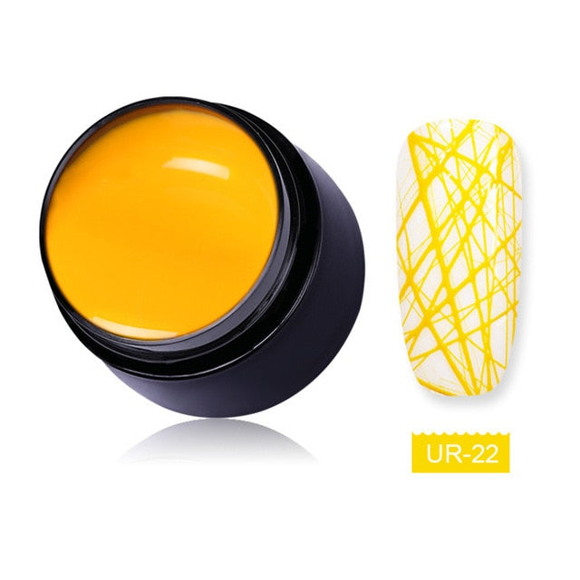 UR SUGAR 7ml Wire Drawing Nail Gel Lacquer Painting Gel Varnish Pulling Silk Spider Creative Nail Art Gel Nail Polish 30 Colors