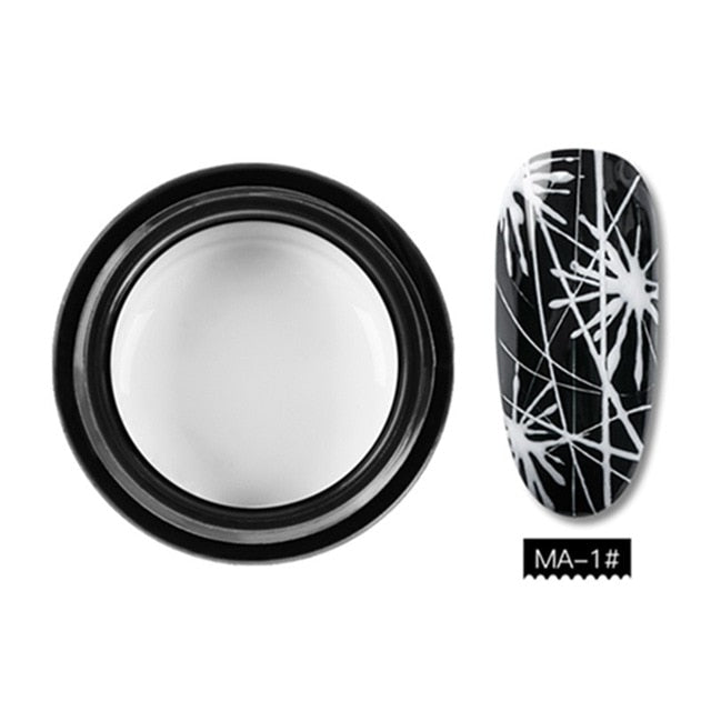 MEET ACROSS 5ml Nail Spider Gel Painting Creative Nail Art UV Gel Wire Drawing Elasticity Point Line Soak Off Gel Spider Varnish
