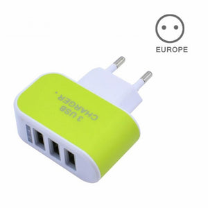 EU/US Plug Charger Station 3 Port USB Charge Charger Travel AC Power Chargers Adapter For Travel Accessories
