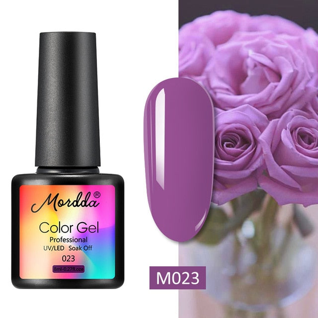 MORDDA 8 ML Gel Polish UV LED Nail Varnish For Manicure 60 Colors Gel Lacquer Semi Permanent Gel Paint Nail Art DIY Design Tools