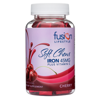Cherry Iron Supplement Soft Chews With Vitamin C