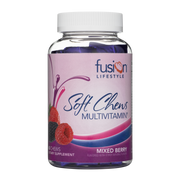 Mixed Berry Daily Multivitamin Soft Chew For Men and Women - Fusion Lifestyle