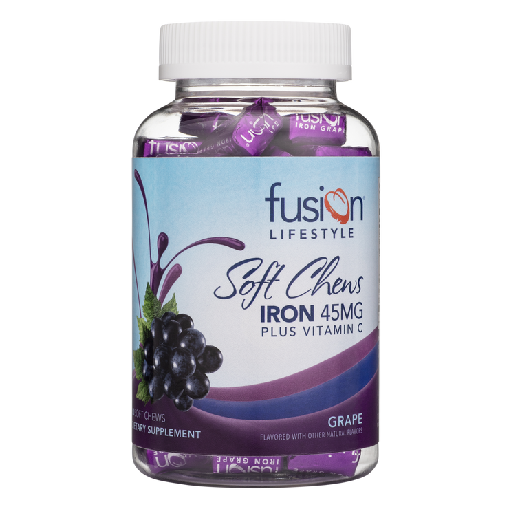 Grape Iron Supplement Soft Chews With Vitamin C - Fusion Lifestyle