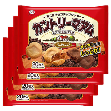 COUNTRY MA'AM cookies Vanilla & Cocoa 20 pieces × 4 bags