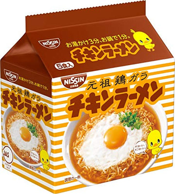 Chicken Ramen Instant noodles 5 meals Japan