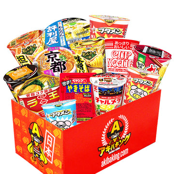 AKIBA KING's selection Japanese instant noodles special party box set 11~12 pieces