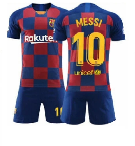 Football Jersey Barcelona fc home Messi number#10 (soccer shirt / club jersey / football shirt / Barca shirt / Barcelona shirt / Messi shirt )