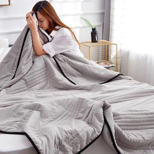 Healthy Sleep Cool Ice Silk Summer Blanket Queen King Size