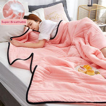Load image into Gallery viewer, Healthy Sleep Cool Ice Silk Summer Blanket Queen King Size