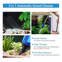 Load image into Gallery viewer, 3-IN-1 AUTOMATIC AQUARIUM GRAVEL CLEANER