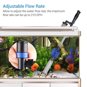 3-IN-1 AUTOMATIC AQUARIUM GRAVEL CLEANER
