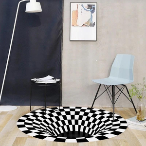 3D Optical Vortex Illusion Rug