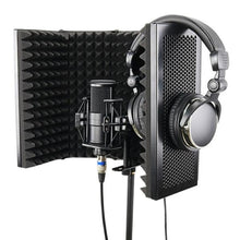 Load image into Gallery viewer, 5 Panel Foldable Studio Microphone | Isolation Shield Recording Sound Absorber | Foam Panel