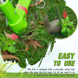 Standing Plant Root Remover - Long Handle Weed Remover - Garden Lawn Weeder