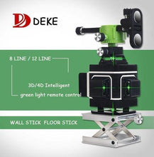 Load image into Gallery viewer, Deke 3d Green Beam Laser Level