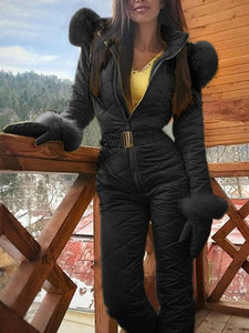Outdoor Bodysuit Hoodie Ski Suit Coat