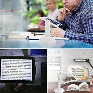 EyeZoom™ Large Screen 3X Magnifier with LED Reading Brighter Viewer 360 Degree Rotation Hands-Free