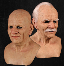 Load image into Gallery viewer, Realistic Old Man Mask - Metamorphose Mask - Old Man Halloween Mask