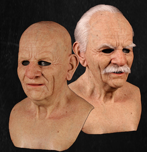 Realistic Old Man Mask - Metamorphose Mask - Old Man Halloween Mask