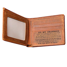 Load image into Gallery viewer, To My GrandSon Leather Wallet