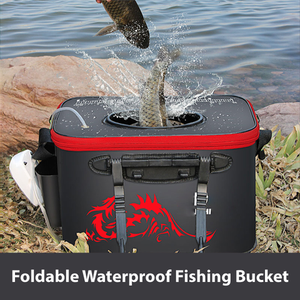 【50% off today】Foldable Waterproof Fishing Bucket - Live Fish Container