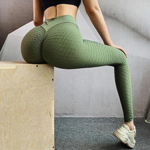 Load image into Gallery viewer, Diamond Textured Scrunch Booty Anti Cellulite Workout Leggings