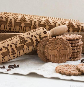 Christmas 3D Embossed Rolling Pin