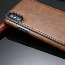 Load image into Gallery viewer, Vintage Leather Case for iPhone