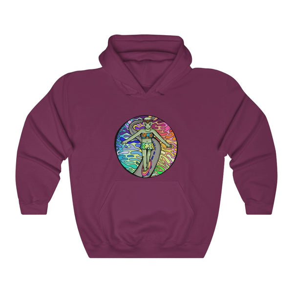 Alien Skater Girl | Unisex Heavy Blend™ Hooded Sweatshirt | Savage Bliss