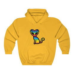 Rainbow Alien Cat Unisex Heavy Blend™ Hooded Sweatshirt