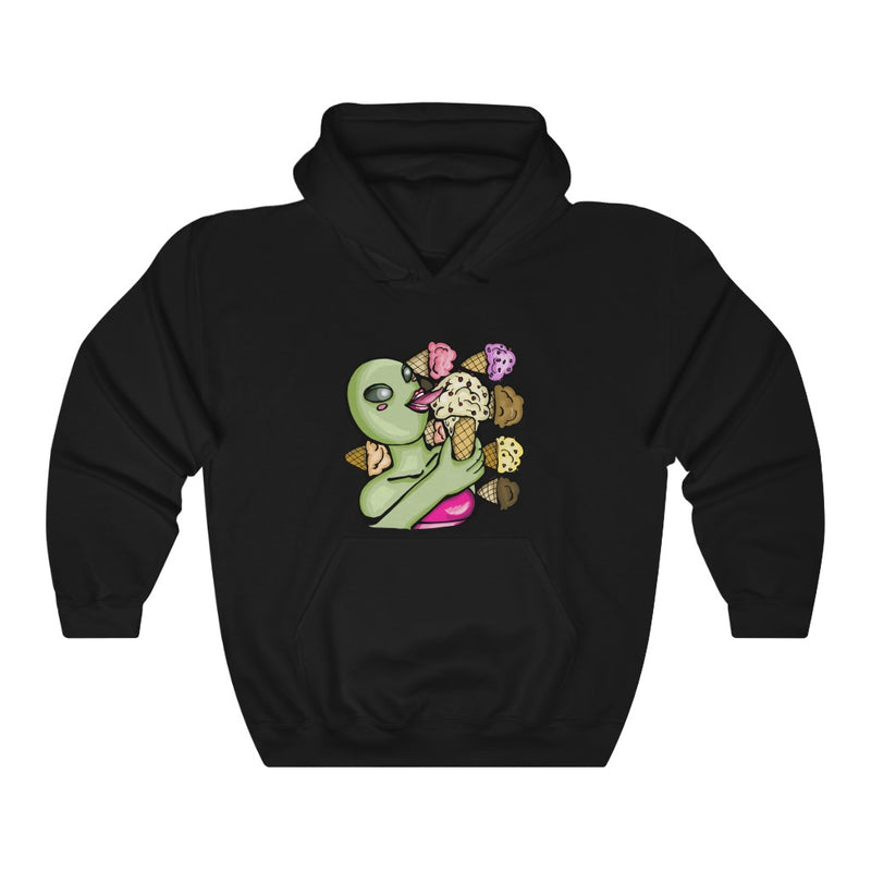 Aliens Love Ice Cream | Unisex Heavy Blend™ Hooded Sweatshirt | Savage Bliss