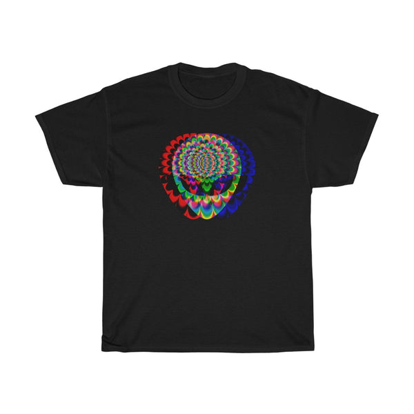 1 Aliens Trip GLITCH Unisex Heavy Cotton Tee